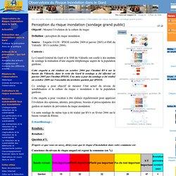 Perception du risque inondation (sondage grand public) — Observatoire du Risque Inondation dans le Gard