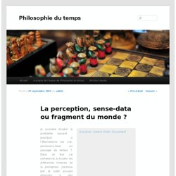 La perception, sense-data ou fragment du monde ?