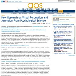 New Research on Visual Perception and Attention From Psychological Science