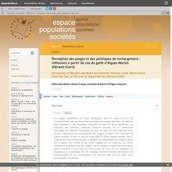 Perception des plages et des politiques de rechargement: réflexions à partir du cas du golfe d'Aigues Mortes (Hérault/Gard)