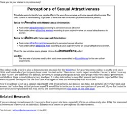 Perceptions of Sexual Attractiveness
