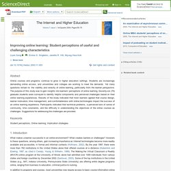 Improving online learning: Student perceptions of useful and challenging characteristics