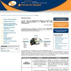 perceptions - Portail HPR - Travail équipe - Polytechnique Montréal
