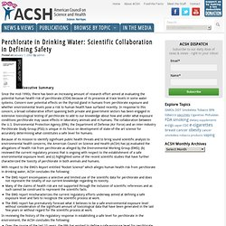 THE AMERICAN COUNCIL ON SCIENCE AND HEALTH - JANV 2002 -  Perchlorate in Drinking Water - Scientific Collaboration in Defining S