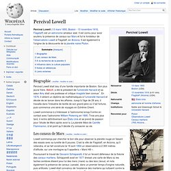 Lowell, Percival