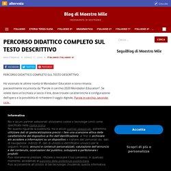 PERCORSO DIDATTICO COMPLETO SUL TESTO DESCRITTIVO