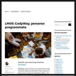 LM05: CodyWay, percorso programmato – codeweek.it