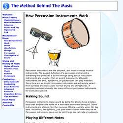 How Percussion Instruments Work - The Method Behind the Music