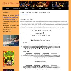 Study Drums and Percussion Worldwide with Chuck Silverman