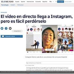 El vídeo en directo llega a Instagram, pero es fácil perdérselo
