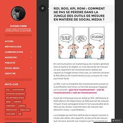 ROI, ROO, KPI, RONI : comment ne pas se perdre dans la jungle des outils de mesure en matière de social media ?