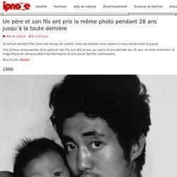 Un père et son fils ont pris la même photo pendant 28 ans jusqu'à la toute dernière