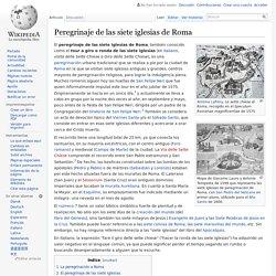 Peregrinaje de las siete iglesias de Roma