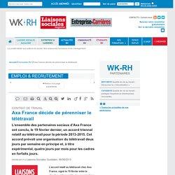CONTRAT DE TRAVAIL - Axa France décide de pérenniser le télétravail