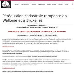 Péréquation cadastrale rampante en Wallonie et à Bruxelles
