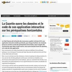 La Gazette ouvre les données et le code de son application interactive sur les péréquations horizontales