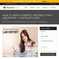 How to Write a Perfect Abstract for a Lab Report - A Detailed Guide