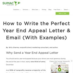 How to Write the Perfect Year End Appeal Letter & Email (With Examples)