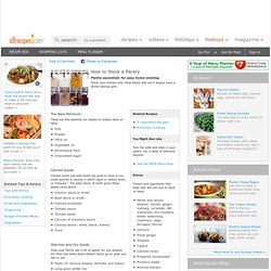 The Perfect Pantry Article - Allrecipes.com - StumbleUpon