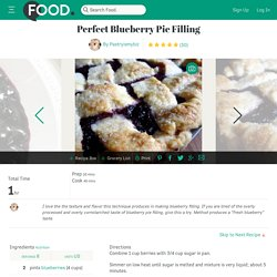 Perfect Blueberry Pie Filling Recipe