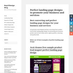 Perfect landing page design to promote your business online