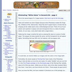 Making a Perfect Alpha Channel with No White Halo in Second Life - page 2 - Tutorial - © Robin Wood 2009