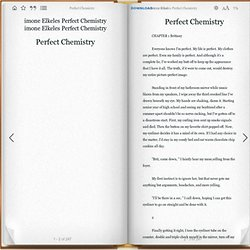"Perfect Chemistry"" by imone Elkeles Perfect Chemistry"