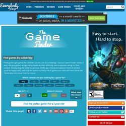 Find the perfect video games for your children on Everybody Plays
