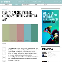 Find the Perfect Color Combos With This Addictive App
