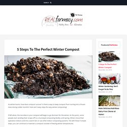 5 Steps To The Perfect Winter Compost – REALfarmacy.com