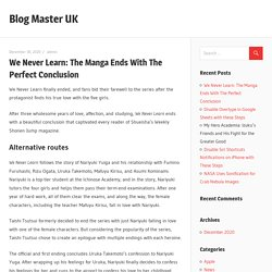 We Never Learn: The Manga Ends With The Perfect Conclusion – Blog Master UK