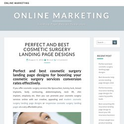 Perfect and best cosmetic surgery landing page designs