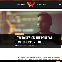 How to Design the Perfect Developer Portfolio