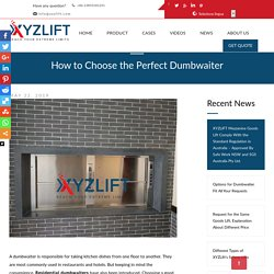 Want to Know How to Choose the Perfect Dumbwaiter