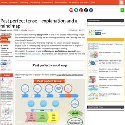 Past perfect tense – explanation and a mind map