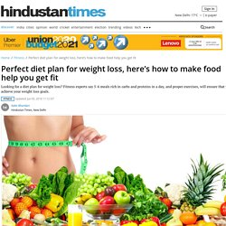Perfect diet plan for weight loss, here's how to make food help you get fit - fitness - Hindustan Times