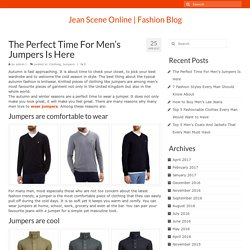 The Perfect Time For Men's Jumpers Is Here - Jean Scene Online