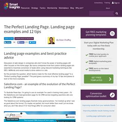 The Perfect Landing Page. 12 Landing page Tips and Examples > Smart Insights Digital Marketing