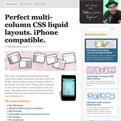 Perfect multi-column CSS liquid layouts - iPhone compatible