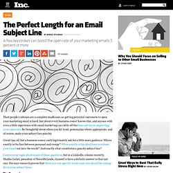 The Perfect Length for an Email Subject Line