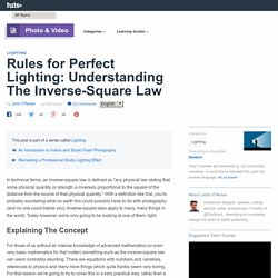 Rules for Perfect Lighting: Understanding The Inverse-Square Law