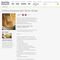 Perfect Macaroni and Cheese - Martha Stewart Comfort Foods