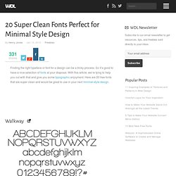 20 Super Clean Fonts Perfect for Minimal Style Design | Web Desi