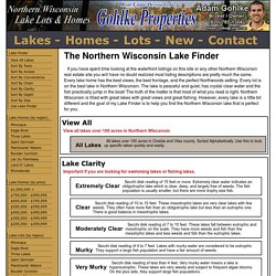 Find Your Perfect Northern Wisconsin Lake with Lake Finder