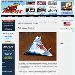 Perfect Paper Airplane! - blog - AirPigz