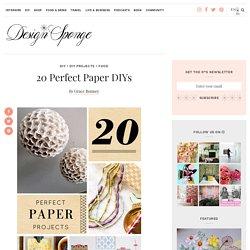 20 Perfect Paper DIYs – Design*Sponge