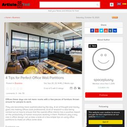 4 Tips for Perfect Office Wall Partitions Article