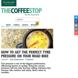 How to get the perfect tyre pressure on your road bike - Evans Cycles