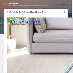 Is Fall Perfect to Call Professional Carpet Cleaners?