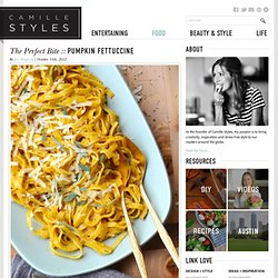 The Perfect Bite :: Pumpkin Fettuccine